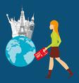 tourism concept design vector image vector image