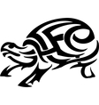 turtle in tribal style vector image