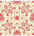 Vintage damask seamless coral pattern vector | Price: 1 Credit (USD $1)