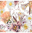 vintage luxury seamless pattern with flowers vector image vector image