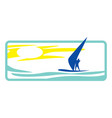 windsurfer in sea vector image vector image
