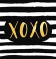 xo xo phrase valentines day typography design vector image vector image