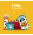 Pet shop design vector image