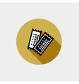 Vintage Ticket Icon vector image