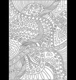 coloring page with scribbles plants pattern vector image
