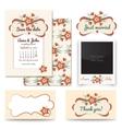 Vintage wedding invitation design sets include vector image
