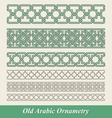 Arabic and islamic seamless border ornament vector image