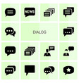 14 dialog icons vector image vector image