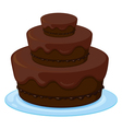 a birthday cake vector image vector image