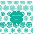 abstract green decorative circles stars striped vector image vector image