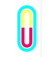 alphabet in disco style vector image vector image