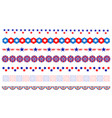 american flag symbols decorative border divider vector image