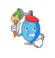 artist ambu bag character cartoon vector image