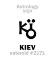 astrology asteroid kiev vector image