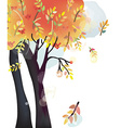 Autumn tree background watercolor style vector image vector image