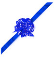big corner bow made of ribbon with small hearts vector image