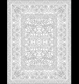 black and white carpet vector image