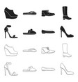 Blue high-heeled sandals homemade lilac slippers vector image