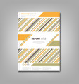 brochures book or flyer with sloping colored vector image vector image