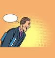 businessman laughs a man joyful vector image vector image