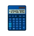 Calculator is made of blue plastic vector image vector image