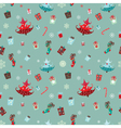 christmas elements pattern vector image vector image