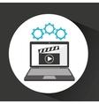 computer security movie social network concept vector image
