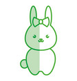 cute and tender female rabbit kawaii style vector image vector image
