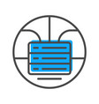 data stream icon with stacked servers sign vector image