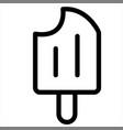dessert food icecream sweet icon vector image vector image