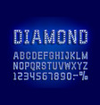 diamond blue golden font alphabet number sign vector image vector image