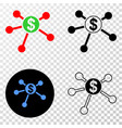 dollar links eps icon with contour version vector image vector image