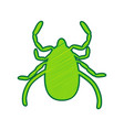 dust mite sign lemon vector image