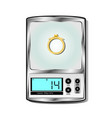 electronic scales for jeweler vector image