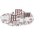 Fee word cloud concept vector image