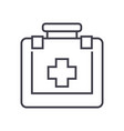 first aid line icon sign on vector image