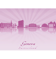 Geneva skyline in purple radiant orchid vector image vector image
