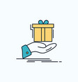 gift surprise solution idea birthday flat icon vector image