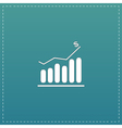 graph flat icon vector image vector image