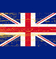 grunge union jack flag of united kingdom vector image