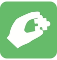 Holding Puzzle Piece vector image vector image