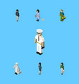 isometric person set of pedagogue plumber vector image vector image