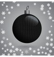 Knitted Christmas Ball vector image