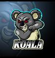 Koala esport logo mascot design
