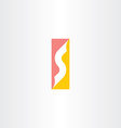 letter s symbol company business logo vector image vector image