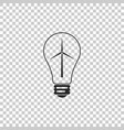 light bulb with a wind turbines icon vector image