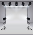 lighting equipment and professional photography vector image