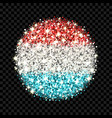 luxembourg flag sparkling badge vector image