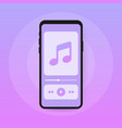 mobile application interface music player music vector image