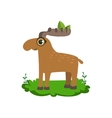 Moose Friendly Forest Animal vector image vector image